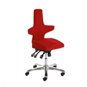 Stacy Home Office Chair In Cherry With Chrome Base