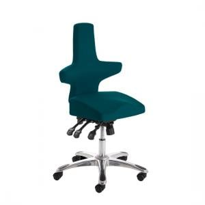 Stacy Home Office Chair In Kingfisher With Chrome Base