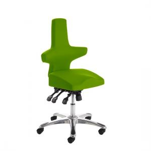 Stacy Home Office Chair In Green With Chrome Base
