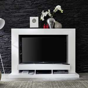 Stamford Entertainment Unit In White Gloss Fronts With Shelving