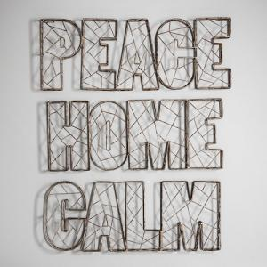 Stellan Peace Wire Wall Art In Metal