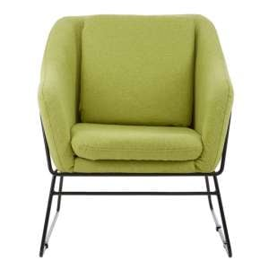 Porrima Green Chair With Stainless Steel Legs