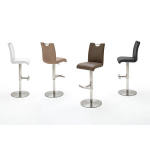 Alesi PU Leather High Back Bar Stool With Gas Lift