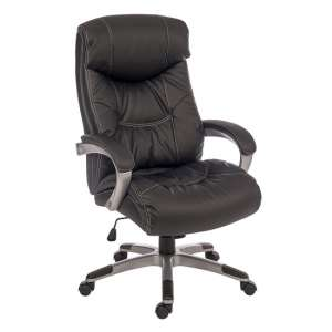 Stratos Executive Office Chair In Black Faux Leather
