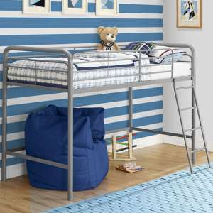 Sturdy Metal Single Midsleeper Bunk Bed In Grey