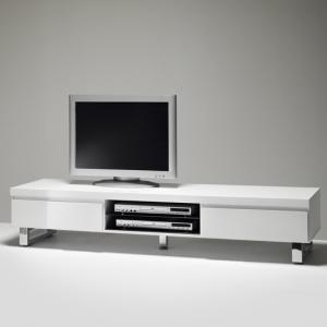 Sydney Lowboard TV Stand in High Gloss White With 2 Drawers