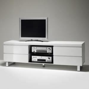 Sydney Lowboard TV Stand in High Gloss White