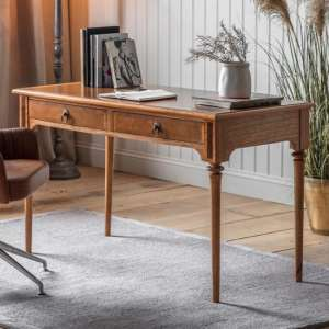 Symphony Wooden 2 Drawers Laptop Desk In Walnut
