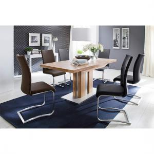 Bergamo 6 Seater Wooden Dining Table With Arco Chairs