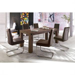 Leeds Solid Wood 8 Seater Dining Table With Flair Chairs