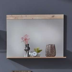 Tailor Wall Mirror With Pale Wood And Matera Frame