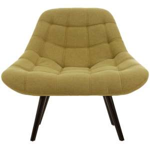 Talin Faux Linen Upholstered Bedroom Chair In Green