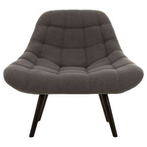 Talin Faux Linen Upholstered Bedroom Chair In Grey