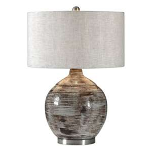 Tamula Table Lamp With Textured Ceramic Base