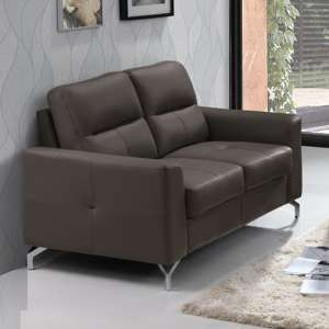 Tanaro Leathaire Fabric 2 Seater Sofa In Grey
