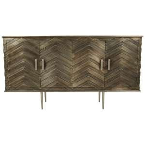 Rastaban Metallic Design Sideboard With Tapered Silver Legs