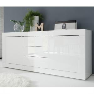 Taylor Modern Sideboard In White High Gloss With 2 Doors