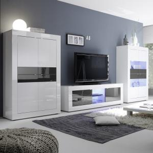 ... Taylor Display Cabinet Wide In White Anthracite High Gloss LED_3 Part 69