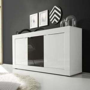 Taylor Modern Sideboard In White And Anthracite High Gloss