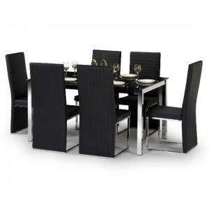 Tempo Glass Dining Table And 4 Tempo Chairs