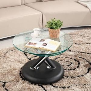 Tokyo Clear Glass Top Coffee Table In Black_2