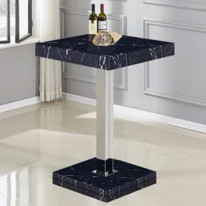 Topaz High Gloss Bar Table In Black Milano Effect