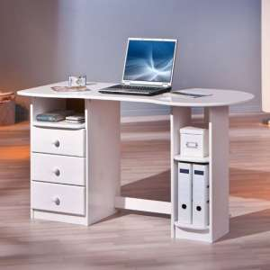 Touchround Wooden Laptop Desk In White