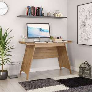 Towson Wooden Trestle Laptop Desk In Beaufort Oak