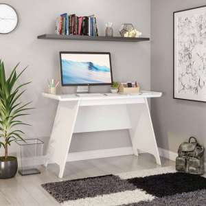 Towson Wooden Trestle Laptop Desk In White