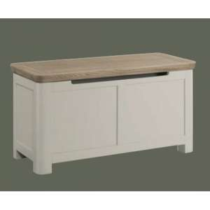 Treviso Blanket Box In Solid Wood Stone Painted