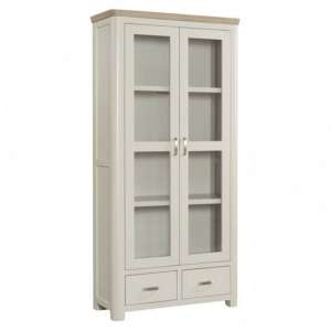 Treviso Display Cabinet In Solid Wood Stone Painted