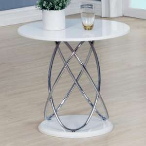Trias Modern Lamp Table Round In White High Gloss