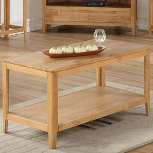 Trimble Coffee Table In Oak With Shelf
