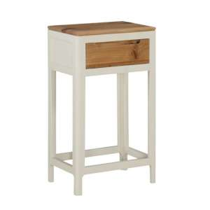 Trimble Wooden Hall Table In Spanish White Painted