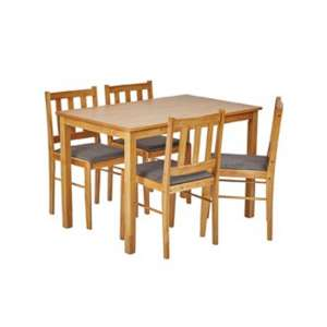 Trinity Wooden Dining Set In Oak