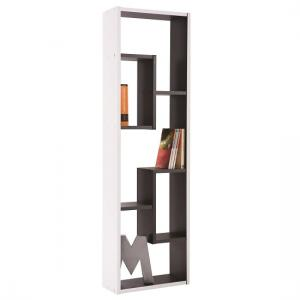 Trinity CD DVD Storage Shelving Unit In White And Black