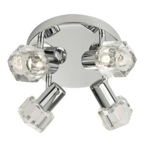 Triton 4 Lights LED Spotlight With Clear Glass Shades