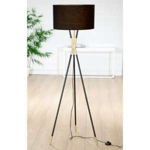 Trois Floor Lamp In Black And Gold