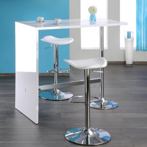 Tuscon Bar Table In White High Gloss With Chrome Legs_2