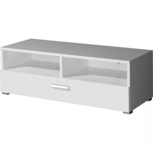 Linea TV Stand In White Gloss With 2 Compartments