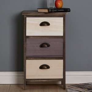 Riley Small Chest Of Drawers With Multicolours Drawers