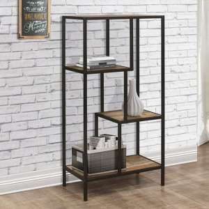 Urban Wooden Medium Shelving Unit In Rustic