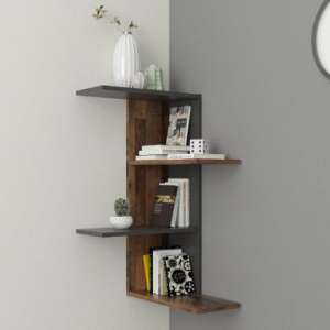 Ursa Corner Shelf In Matera And Old Style Dark