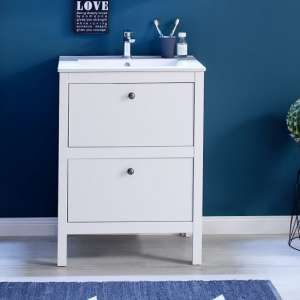 Valdo Modern Vanity Cabinet With Basin In White