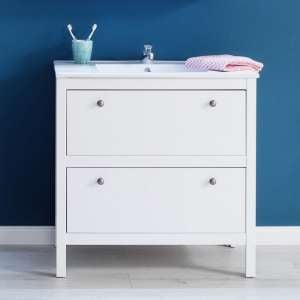 Valdo Modern Vanity Cabinet With Basin Wide In White