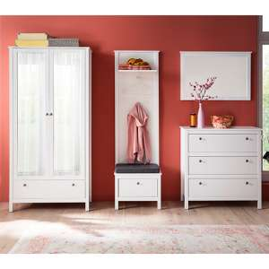 Valdo Wooden Hallway Furniture Set 14 In White