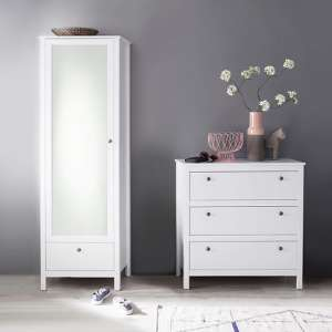 Valdo Wooden Hallway Furniture Set 2 In White