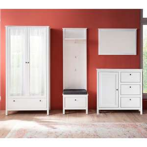 Valdo Wooden Hallway Furniture Set 26 In White