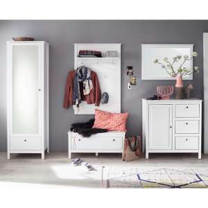 Valdo Wooden Hallway Furniture Set 27 In White