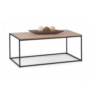 Valencia Coffee Table In Sonoma Oak And Black Metal Frame